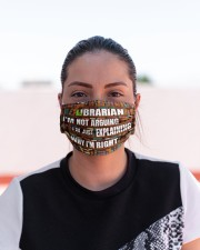 librarian I'm not arguing mas  Cloth Face Mask - 3 Pack aos-face-mask-lifestyle-03