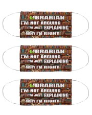 librarian I'm not arguing mas  Cloth Face Mask - 3 Pack front