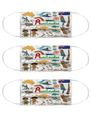 australia map mas  Cloth Face Mask - 3 Pack front