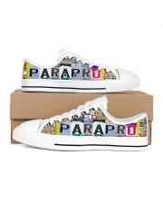 shoe plate parapro   Men's Low Top White Shoes inside-left-outside-left