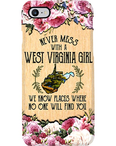west virginia girl don't mess phonecase