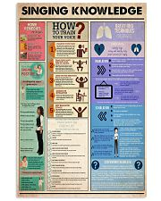 singing knowledge 24x36 Poster front