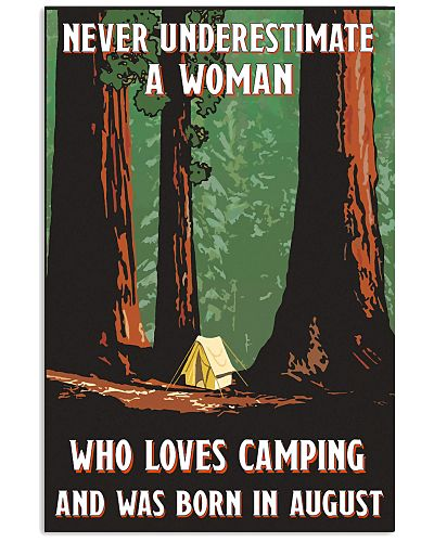 August Woman Who Loves Camping