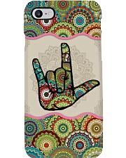 sign language mandala phonecase  Phone Case i-phone-8-case