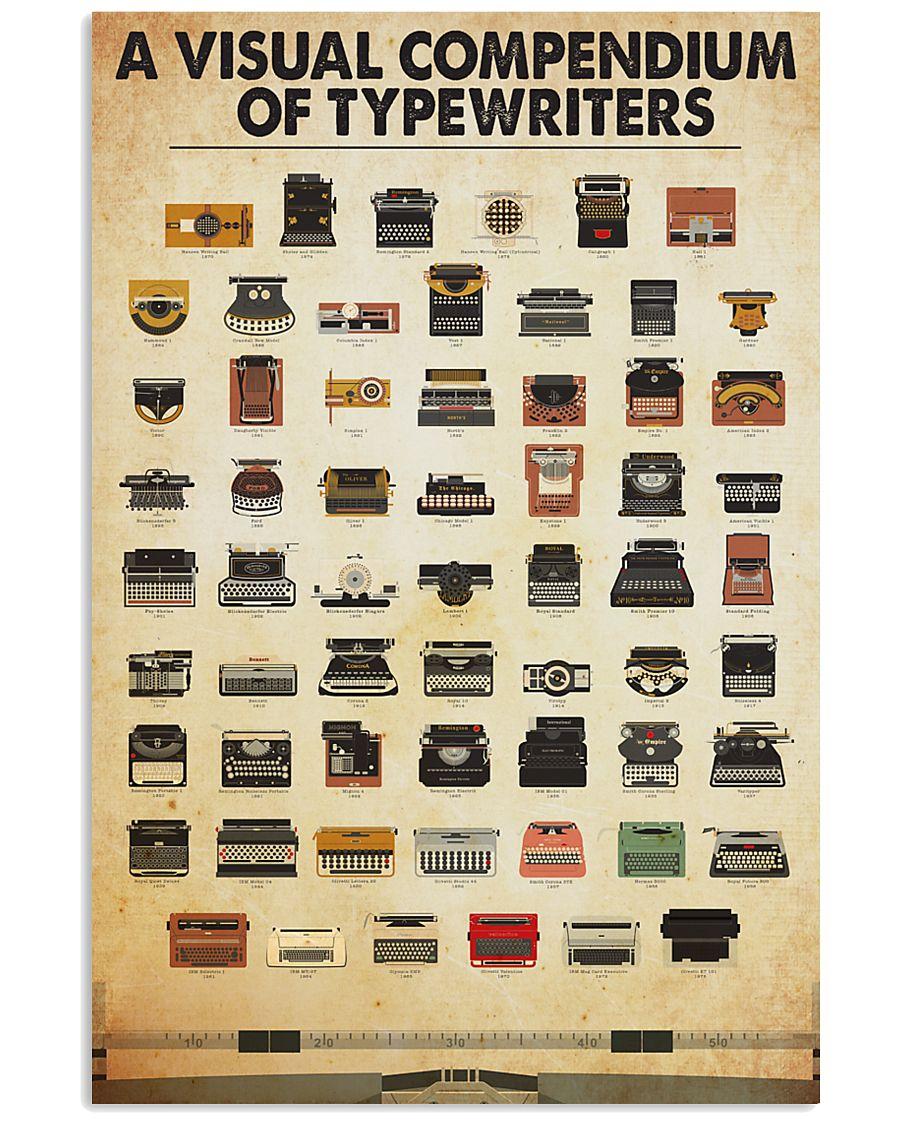 visual compendium typewriters 11x17 Poster