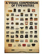 visual compendium typewriters 11x17 Poster front