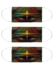 lgbt mandala dragonfly mas  Cloth Face Mask - 3 Pack front