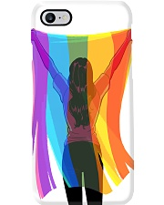 lgbt girl back flag phonecase Phone Case i-phone-8-case