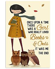 reading owls autumn girl once upon 11x17 Poster front
