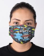 autism light blue mas Cloth Face Mask - 3 Pack aos-face-mask-lifestyle-01