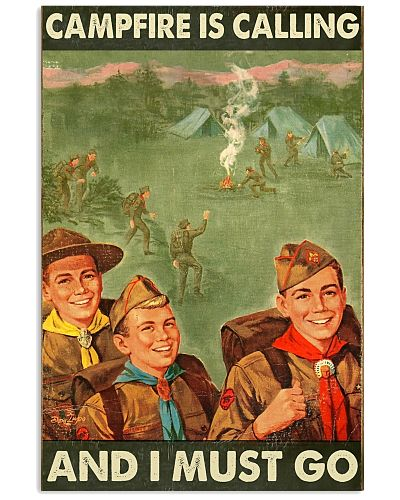 boy scout campfire is calling