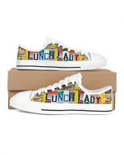 shoe plate lunch lady   Men's Low Top White Shoes tile