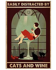 wine and cats poster 11x17 Poster front