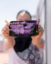 september girl attitude skull mas Cloth Face Mask - 3 Pack aos-face-mask-lifestyle-07