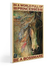 native girl horse be a bossmare pt lqt-DVH1 20x30 Gallery Wrapped Canvas Prints front