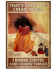 Afro Girl Reading And Drink Coffee 11x17 Poster front