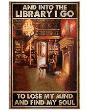 girl dog library book find my soul poster 11x17 Poster front