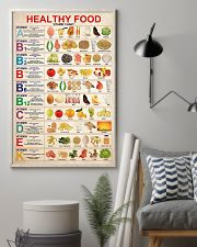 lunch lady healthy food vitamin chart 11x17 Poster lifestyle-poster-1