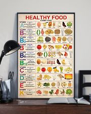 lunch lady healthy food vitamin chart 11x17 Poster lifestyle-poster-2