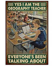 geography teacher everyone talking about poster 11x17 Poster front