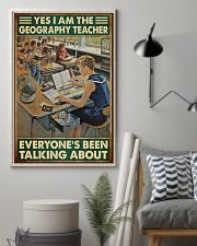 geography teacher everyone talking about poster 11x17 Poster lifestyle-poster-1