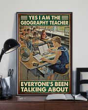 geography teacher everyone talking about poster 11x17 Poster lifestyle-poster-2