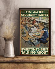 geography teacher everyone talking about poster 11x17 Poster lifestyle-poster-3