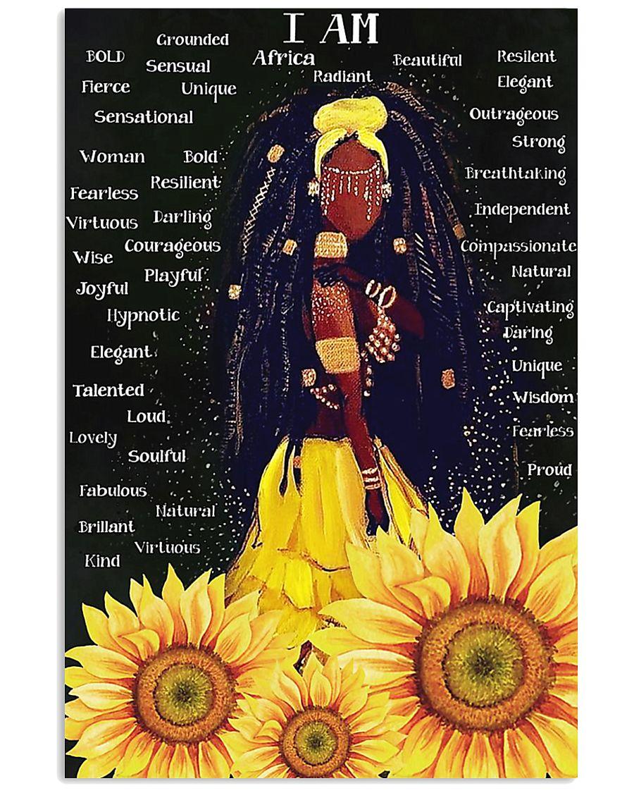 I Am Black sunflower poster 11x17 Poster