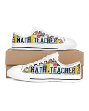 shoe plate math teacher   Men's Low Top White Shoes inside-right-outside-right