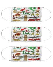italy map mas  Cloth Face Mask - 3 Pack front