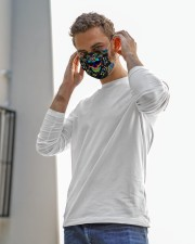 lgbt skull colorful mas Cloth Face Mask - 3 Pack aos-face-mask-lifestyle-12