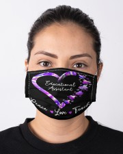 educational assistant-peace-love teach neon mas  Cloth Face Mask - 3 Pack aos-face-mask-lifestyle-01