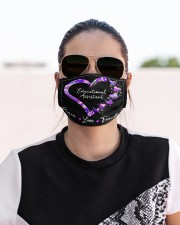 educational assistant-peace-love teach neon mas  Cloth Face Mask - 3 Pack aos-face-mask-lifestyle-02