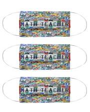 math teacher plates mas Cloth Face Mask - 3 Pack front
