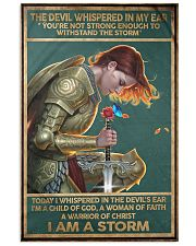 god knight I am a Storm poster  11x17 Poster front