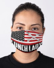 lunch lady us flag mas Cloth Face Mask - 3 Pack aos-face-mask-lifestyle-01