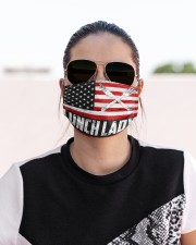 lunch lady us flag mas Cloth Face Mask - 3 Pack aos-face-mask-lifestyle-02