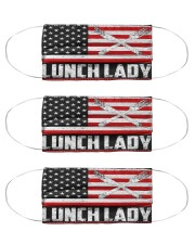 lunch lady us flag mas Cloth Face Mask - 3 Pack front