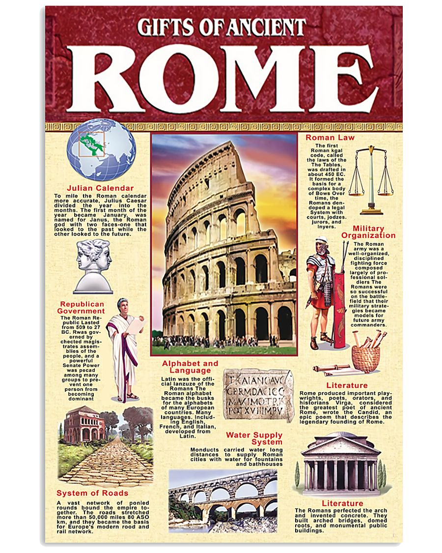 gift of ancient rome 11x17 Poster