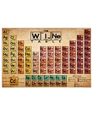 periodic table of wine 17x11 Poster front