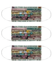 Teachers In This Classroom mas Cloth Face Mask - 3 Pack front