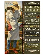 girl Garden Rules poster  11x17 Poster front