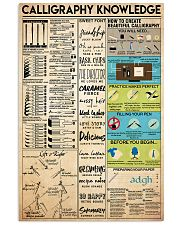 Calligraphy knowledge 11x17 Poster front