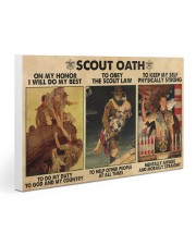 scout oath on my honor pt mttn nna 30x20 Gallery Wrapped Canvas Prints front