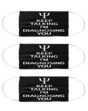 psychologist diagnosing you mas  Cloth Face Mask - 3 Pack front