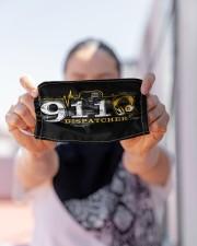 dispatcher 911 heart beat mas Cloth Face Mask - 3 Pack aos-face-mask-lifestyle-07