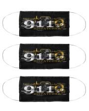dispatcher 911 heart beat mas Cloth Face Mask - 3 Pack front