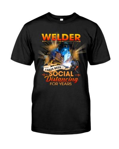 Welder social distancing for years