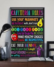 lunch lady cafeteria rule 11x17 Poster lifestyle-poster-2