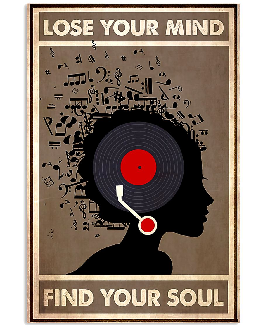 Afro Vinyl Head lose my mind  11x17 Poster